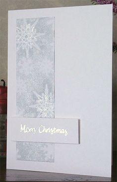 246. Snowflakes Christmas card. #handmade #Christmas