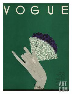 Vogue Cover - May 1932 Regular Giclee Print by Eduardo Garcia Benito at Art.com