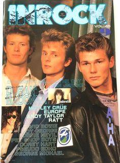 INROCK Japan Music Magazine 9/1987 A-HA Duran Bon Jovi Madonna Europe Cinderella