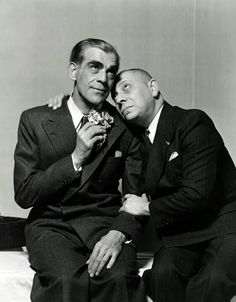 Boris Karloff and Erich von Stroheim wish you a Happy Halloween Sci Fi Movies, Old Movies, Movie Tv, Vintage Movies, Martin Scorsese, Classic Horror Movies, Horror Films, Cary Grant, Alfred Hitchcock