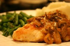 Chicken Breasts with Mushroom Sage Sauce.