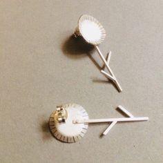 Flower silver earrings Summer jewelry