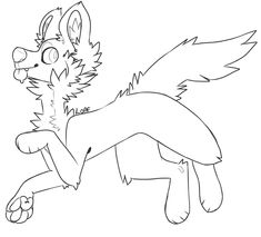 Cute Kawaii Animals, Cute Animal Drawings Kawaii, Furry Wolf, Furry Art, Furry Drawing, Cat Drawing, Wolf Base, Cute Fantasy Creatures, Art Base