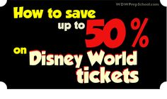 How to save up to 50% on Disney World park tickets