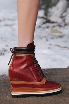 cc6125d52f4 50 Best Shoes At NY Fashion Week | StyleCaster Wedge Ankle Boots, Wedge  Shoes,