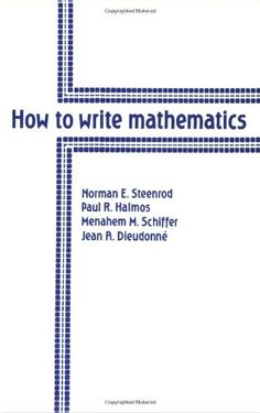 How to Write Mathematics by Norman E. Steenrod http://www.amazon.com/dp/0821800558/ref=cm_sw_r_pi_dp_lweJvb1G7SY84