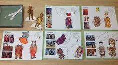 African Clothing Paper Dolls at Trillium Montessori- Matching outlines (more Africa activities and free animal printable on this post)