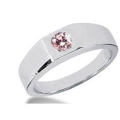 0.25 Karat Pink Herren Diamantring aus 585er Weißgold