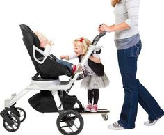 The Orbit Baby Sidekick Stroller Board attaches to your stroller, giving your older child an easy ride when they get tired.