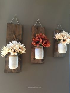 Fall Wall Sconce, Individual Mason Jar Sconce, Flower Vase Mason Jar, Rustic Dec…   http://www.housedesigns.top/2017/07/18/fall-wall-sconce-individual-mason-jar-sconce-flower-vase-mason-jar-rustic-dec/