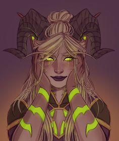 ArtStation - Big blush, Maja S Fantasy Character Design, Character Design Inspiration, Character Concept, Character Art, Concept Art, Fantasy Demon, Demon Art, Dark Fantasy Art, Dungeons And Dragons Characters