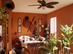 Estudo De Tons Toscanos E Estilo Para Decoraçao African Room, African Living  Rooms, African