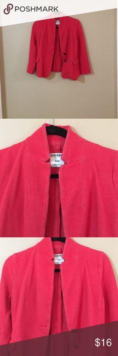 Old navy red blazer Old Navy red cotton blazer. Size M. Old Navy Jackets & Coats Blazers