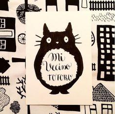 Totoro Calligraphy