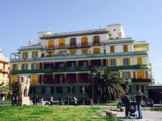 Lido di Ostia: Palazzo del Pappagallo https://aladyinrome.com/2017/02/17/%EF%BB%BFa-winter-walk-in-lido-di-ostia-with-lady/  #ostia #rome #aladyinrome #visitrome #architecture #design