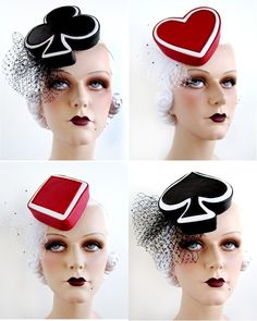 The Spade - Deck of Cards Fascinator. $200.00, via Etsy.