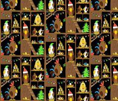 Chicken Coop Christmas by karapeters