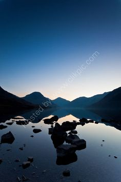 Wast Water Sunrise an awesome lake Water Photography, Landscape Photography, Sunrise, Mountains, Awesome, Places, Nature, Travel, Image