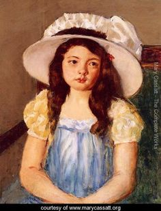 View Françoise wearing a big white hat by Mary Cassatt on artnet. Browse upcoming and past auction lots by Mary Cassatt. Edgar Degas, Mary Cassatt Art, American Impressionism, Impressionist Art, Berthe Morisot, Winslow Homer, Art Database, Oil Painting Reproductions, Vintage Artwork