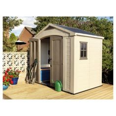 Fusion 754 outdoor storage by keter keter sheds for Garden shed tesco