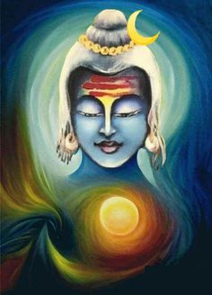 Lord Shiva in creative art painting
