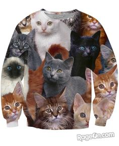 Cats Collage Sweatshirt - Rage On! - The World's Largest All-Over Print Online Retailer