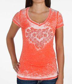 Velvet Stone Scrolled Heart T-Shirt