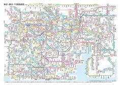 JR + 지하철 노선도