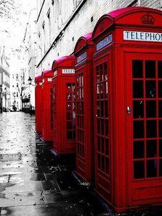 Cabines téléphoniques anglaises #londres #rue #city #street #london