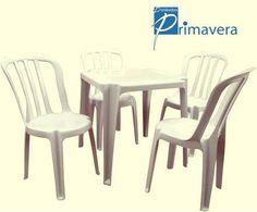 Conjunto mesa com 4 cadeiras.Confira já! www.distribuidoraprimavera.com.br
