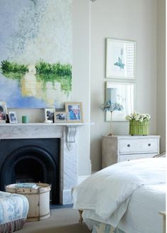 Beautiful, cozy and fresh bedroom, great colours for a Wood feng shui element person. Find more feng shui decor tips: http://FengShui.About.com