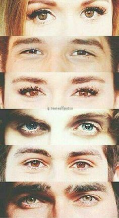 TEEN WOLF / How bad is it that I know exactly who is who just by seeing their eyes...?
