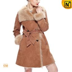 Women Sheepskin Shearling Fur Coat CW640232 $1795.89 - www.cwmalls.com