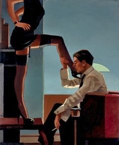 """""""I believe that sex is one of the most beautiful, natural, wholesome things that money can buy."""" ― steve martin *Art by Jack Vettriano Jack Vettriano, Arte Do Pulp Fiction, Provocateur, Female Supremacy, Pulp Art, Pin Up Art, Erotic Art, Love Art, Tango"""
