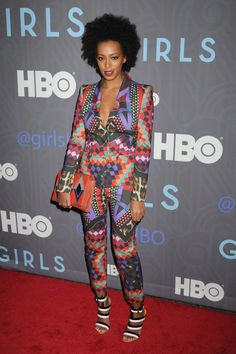 Solange Knowles was amazing in her #JustCavalli look at the season two premiere of the TV series 'Girls' in New York City!