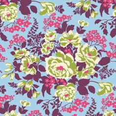 Heirloom Rose Bouquet in Sky by Joel Dewberry for Free Spirit Fabrics large floral designer cotton fabric end of remnant end of bolt remnant Textile Patterns, Textile Prints, Print Patterns, Textiles, Flower Patterns, Art Prints, Free Spirit Fabrics, Baby Fabric, Fabric Roses