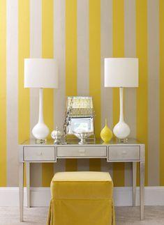 papel-pintado-rayas-amarillas