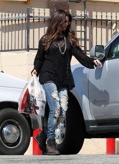 122222fdb77 Selena Gomez  RippedDenim Selena Gomez Photos