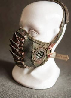 Gas Mask - Gift For Men - Mens Armor - Props - Atomic Bomb - Horror - Creepy - Rocker - Metal - New Age - Leather Mask