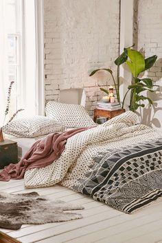 Bohemian geo bedroom