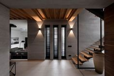 "House Redesign Abundant in Soft Walnut Hues: ""Two-Levels"" Project in Ukraine"