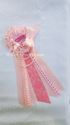 Shabby Chic Baby Shower Corsage/Girl Mommy to be Baby Shower