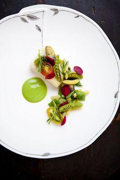 gorgeous veggie food plating