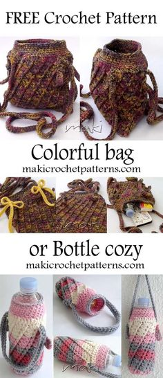 Can you believe that I made this bottle cozy in half an hour and shoulder bag in only one afternoon!!!! I can't believe that myself .... heheheh .... but I did!!! That is how this project is simple, quick and beautiful!!! So....let's get busy!! :)