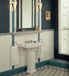 Art Deco Tile Restoration Wall Tiles Bathroom