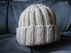 ribbed knit baby hat