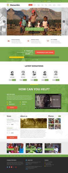 Donacion worlpress theme
