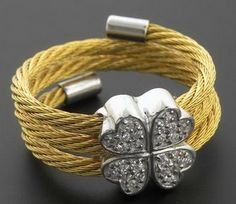 Sun silver 00503-08119GOLD Gold PLated Crazy Cable Ring