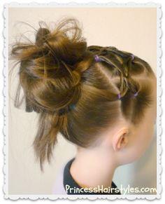 Woven twist headband tutorial and messy bun