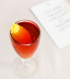 The Adonis #cocktail #recipe with dry sherry and sweet vermouth: http://ohsobeautifulpaper.com/2014/10/the-adonis-cocktail-recipe/ | Photo: Nole Garey for Oh So Beautiful Paper #OSBPhappyhour